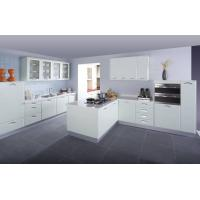 Wholesale Euro Style Classic White PVC Kitchen cabinet from china suppliers