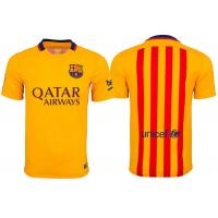 Wholesale Yellow 10 Messi football uniform Soccer Shirts For Men Barcelona Away from china suppliers