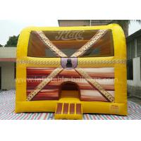Buy cheap Fireproof PVC Tarpaulin 6M Inflatable Treasure Box Bouncer With Columns Inside from wholesalers