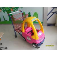 Wholesale 95L Plastic Children / Kids Shopping Carts With 4 Swivel TPE Caster from china suppliers