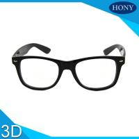 Wholesale Cinema White Circular Polarized 3D Glasses foldable arms WITH Anti UV from china suppliers