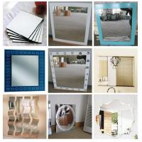 Wholesale Rectangular , Square , Round custom glass mirror sheet for household , shops from china suppliers