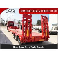 Quality Carbon Steel 60t Semi Low Bed Trailer And Truck With Tractor Horse for sale
