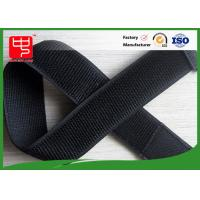 Wholesale Unnapped loop Elastic hook and loop straps , Black hook and loop stretch adjustable straps from china suppliers