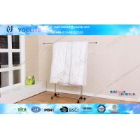 Quality Steel Movable Portable Clothes Rack Heavy Duty  for Quilt / Towel Space Saving for sale