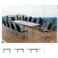 Wholesale Extendable Dining Table Set for 12 All Weather Outdoor Furniture With Tempered Glass from china suppliers