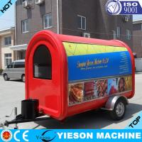 Wholesale Bus Type Kitchen Outdoor Creme Fast Food Trailer Mobile For Beverage from china suppliers