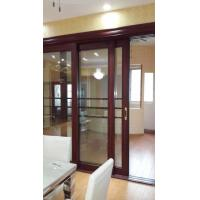 Wholesale Living Room Wood Aluminium Interior Sliding Doors Double Tempered Glass With Louver from china suppliers