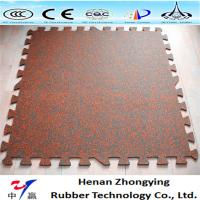Wholesale Manufacturer recycled interlock rubber tiles 12mm 15mm gym rubber floor mats from china suppliers