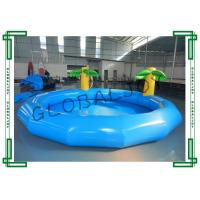 Wholesale Blue Inflatable Water Pool , Round Inflatable Swimming Pool With Coconut Tree from china suppliers
