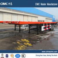 Wholesale 40ft 2 axle flatbed trailer with bogie suspension from china suppliers