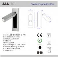 Wholesale Adjustable modern headboard wall light 3W bed wall lamp/led reading light for bedroom from china suppliers