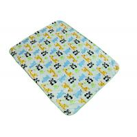Quality Comfortable Baby Swaddle Blankets With Panda Giraffe Rhino Pattern for sale