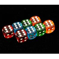 Wholesale Colorful Plastic 8 / 10 / 12 / 14mm Casino Magic Dice For Betting Games Cheat from china suppliers