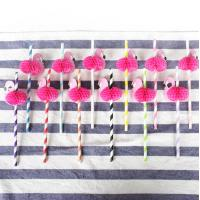 Wholesale Colorful Decorating Paper Art Straws For Christmas Thanksgiving Party from china suppliers