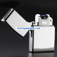 Buy cheap factory supply sliver USB electric lighter cigarette lighter ARC flameless lighter from wholesalers