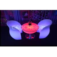 Wholesale Rechargeable Tea Chair Led Sofa Illuminated Sofa Water Proof 61*61*81cm from china suppliers