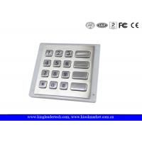 Wholesale Panel - Mount Backlit Metal Keypad , customizable waterproof keypad dust - proof from china suppliers