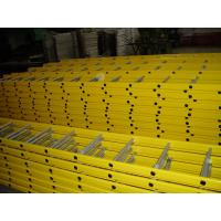 Wholesale Portable Steel Scaffold Step Ladder Yellow Powder Coated For Building Construction from china suppliers