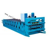 Wholesale Metal Glazed Roof Cap Ridge Roll Forming Machine for Ridge Sheet / Corrugated Sheet from china suppliers