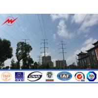 Wholesale 11KV 73KM Transmission Line Galvanized 4mm Electric Steel Pole with Bitumen from china suppliers