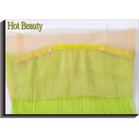 Quality Customized 360 Wig Human Hair Virgin Fluorescent Green Color 20 Inch Straight for sale
