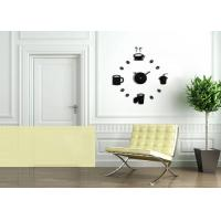 Wholesale Novelty Design Create Wall Decal Clock DIY For Home Decrative from china suppliers