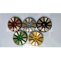 Wholesale 10 Seg Velcro Backed Metal Bonded Diamond Concrete Floor Grinding Polishing Pads from china suppliers