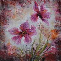 Wholesale decoration flower oil painting for hotel from china suppliers
