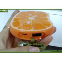 Wholesale Portable Orange Shaped Cute USB Lithium Polymer Battery Power Bank For Mobile Phone from china suppliers