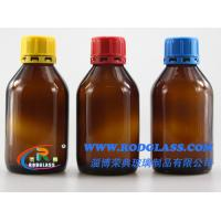 Wholesale 250ml amber chemical reagent glass bottle ,narrow mouth for liquids from china suppliers
