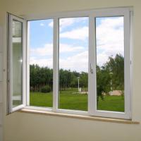 Wholesale Powder Coating UPVC Window And Door With 4mm Glass Sheet from china suppliers