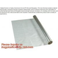Wholesale Aluminium laminated foil woven cloth vapor barrier lowes thermal insulation,foil fiberglass cloth,roof sarking,EPE,XPE from china suppliers