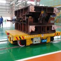 Wholesale 20T transfer cars for steel mold handling on curved rails mold transfer bogie from china suppliers