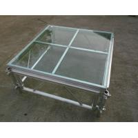 Easy install acrylic / glass adjustable stage platform / plexiglass stage Platform with Aluminum truss