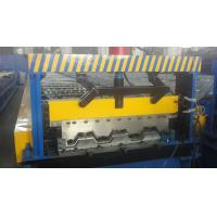 Quality Galvanized Steel Floor Deck Roll Forming Machine With Coiler Car ,  Floor Tile Making Machine for sale