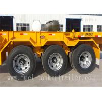 Wholesale Stainless Steel Container Trailer Truck , 3 Axle Semi Truck Trailers CCC ISO from china suppliers