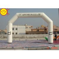 Wholesale Customized Advertising White Inflatable Start Finish Arch For Racing Finish Line from china suppliers