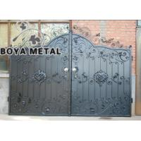 Quality Decorative Wrought Iron Main Gate for sale