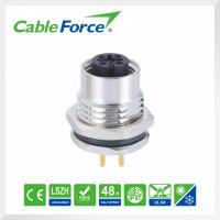 Wholesale Sensor Or Actuator M12 Circular Cable Connectors , 4 Pin Female Receptacle Connector from china suppliers