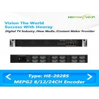 Wholesale 8 / 12 / 24 CVBS Inputs Digital TV Encoder Suppport  MPTS SPTS IP Output with Advertisement from china suppliers