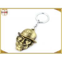 Wholesale Brass Plated Metal Key Ring , Customised Key Chains With Free Laser Engraved Logo from china suppliers