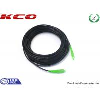 Wholesale Outdoor Exterior SC / APC Fiber Optic Patch Cord With Black 3.5mm Diameter PE Sheath Cable from china suppliers