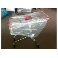 Quality Supermarket Shopping Cart Trolley / Metal Grocery Cart / 150 Litres Hand Trolley for sale