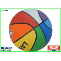 Wholesale New Style Official Size Colorful Rubber Basketballs , Red / Green / Blue / Orange from china suppliers