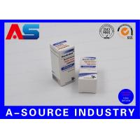 Quality Anabolic Steroids 10ml Vial Boxes Embossed Carton Paper Matt White Color Printing for sale
