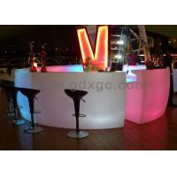 Wholesale Round led lighting bar counter, Impact-Proof Curved LED Bar Tables With Remote Control Battery from china suppliers