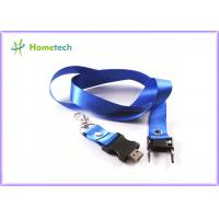 Wholesale Blue 4GB/ 8GB Lanyard Plastic USB Flash Driver 2.0 , Black USB Key 2.0 from china suppliers