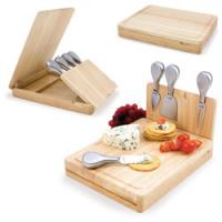 4pcs cheese tools with cutting board, wood case, wood cheese board sets for sale