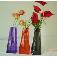Wholesale Folding vase , pvc folding vase,  flower vase manufactory,  measure 29*10.5*7cm from china suppliers